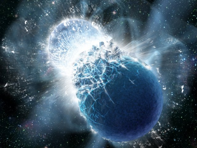 Two Neutron Stars Collide
