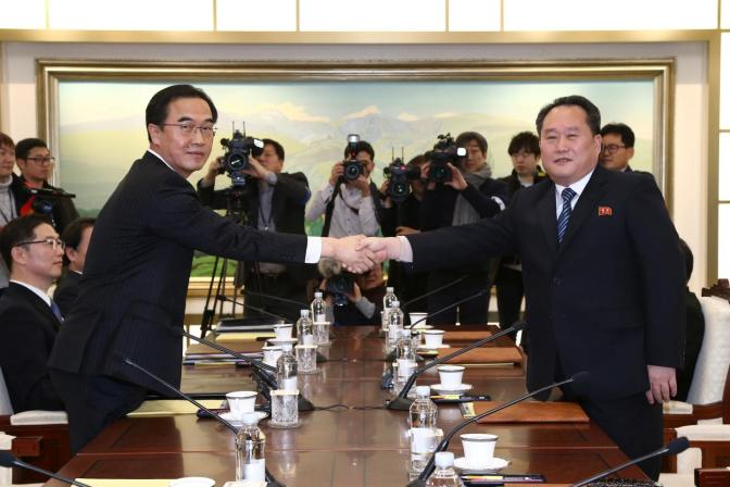 North & South Korea Convene To Discuss Olympic Participation