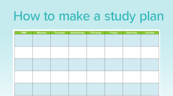 How To Create A Good Study Plan