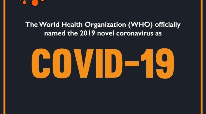 The Coronavirus Now Has a Name