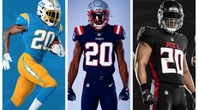 2020 New NFL Uniforms